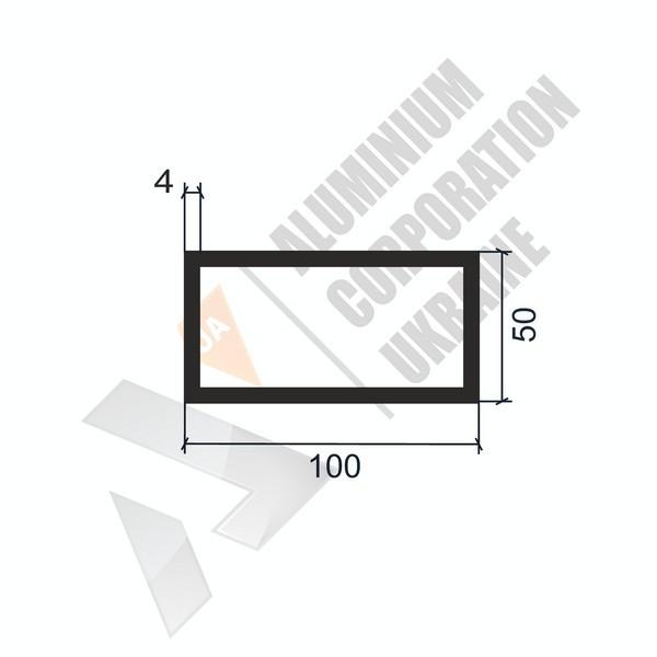 Алюминиевая труба прямоугольная 100х50х4 - БП 00127