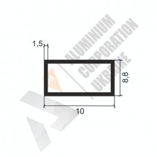 Алюминиевая труба прямоугольная 10х8,8х1,5 - АН 00072 1