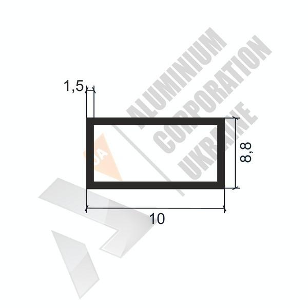 Алюминиевая труба прямоугольная 10х8,8х1,5 - АН 00072