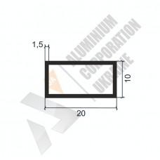 Алюминиевая труба прямоугольная <br> 20х10х1,5 - БП 00308 1