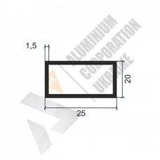 Алюминиевая труба прямоугольная <br> 25х20х1,5 - АН 00467 1