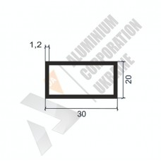 Алюминиевая труба прямоугольная <br> 30х20х1,2 - АН 00065 1
