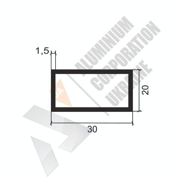 Алюминиевая труба прямоугольная 30х20х1,5 - БП 00066