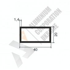 Алюминиевая труба прямоугольная <br> 40х20х1.4 - АН 00304 1