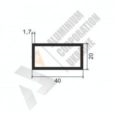 Алюминиевая труба прямоугольная 40х20х1,7 1541 1