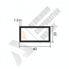 Алюминиевая труба прямоугольная 40х20х1,5 - БП 00363 1
