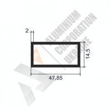 Алюминиевая труба прямоугольная <br> 47,85х14,5х2 - БП 00454 1