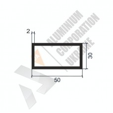 Алюминиевая труба прямоугольная 50х30х2 - АН 00022 1