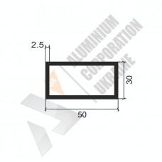 Алюминиевая труба прямоугольная <br> 50х30х2,5 - БП 00150 1