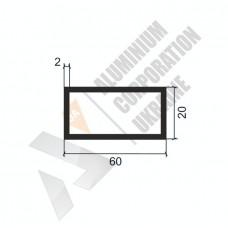 Алюминиевая труба прямоугольная 60х20х2 - БП 00250 1
