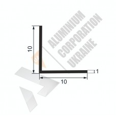 Уголок алюминиевый 10х10х1 - АН 00088 1