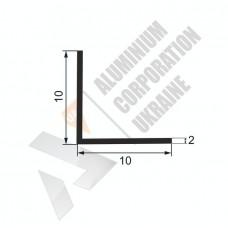 Кутник алюмінієвий <br> 10х10х2 - БП 15-0006 1