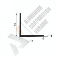 Кутник алюмінієвий <br> 15х15х1,5 - БП 15-0030 1