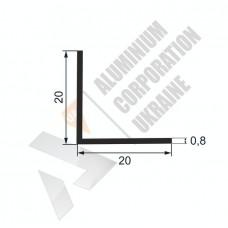 Уголок алюминиевый <br> 20х20х0,8 - АН 00206 1