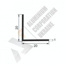 Уголок алюминиевый <br> 20х20х1 - БП 00458 1