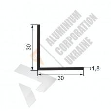 Уголок алюминиевый 30х30х1,8 - АН 00210 1