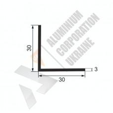 Уголок алюминиевый 30х30х3 - АН 00029 1