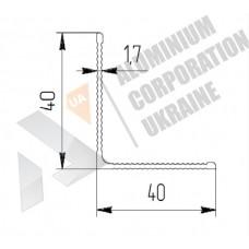 Уголок алюминиевый <br> 40х40х1,95 рифл. - БП 00410 1