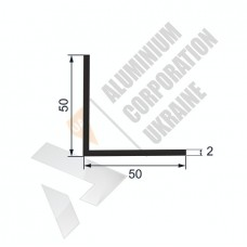 Уголок алюминиевый 50х50х2 - АН 00033 1