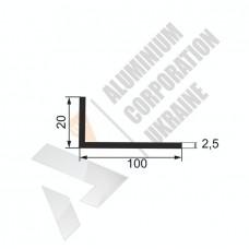 Уголок алюминиевый 100х20х2,5 - БП 00332 1