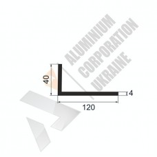 Уголок алюминиевый 120х40х4 - АН 0116 1