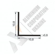 Уголок алюминиевый  <br> 10,8х10,8х0,8 - АН SX-WM184-14 1