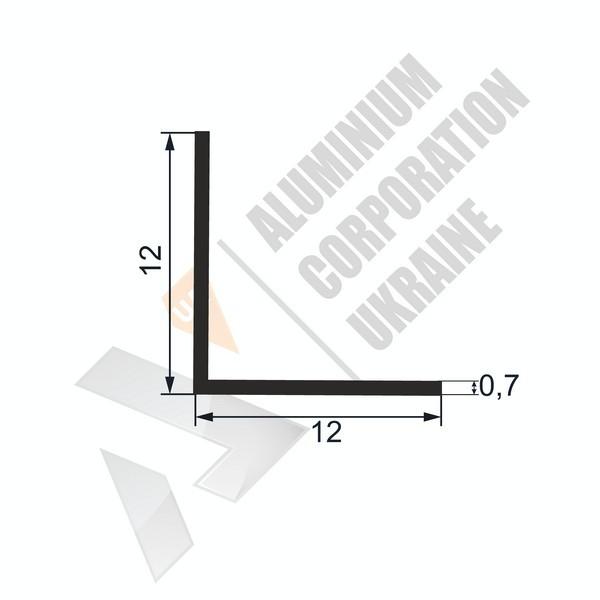 Уголок алюминиевый  | 12х12х0,7 - АН SX-WW/X)-16