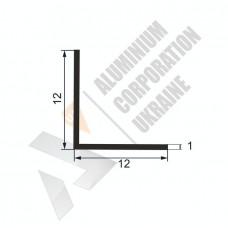 Уголок алюминиевый  <br> 12х12х1 - БП 00521 1
