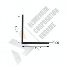 Уголок алюминиевый  <br> 12,7х12,7х0,96 - АН SX-WU524-26 1