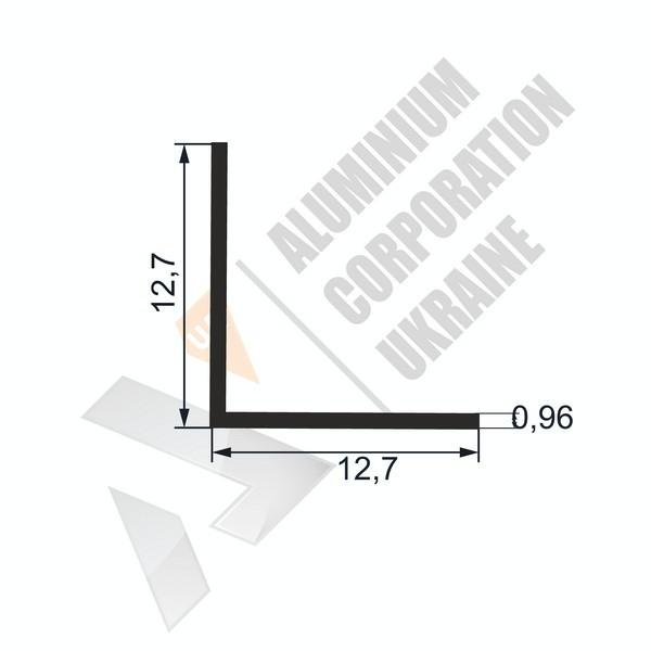 Уголок алюминиевый  | 12,7х12,7х0,96 - АН SX-WU524-26