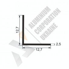 Уголок алюминиевый  <br> 12,7х12,7х2,5 - БП АК-5554-33 1