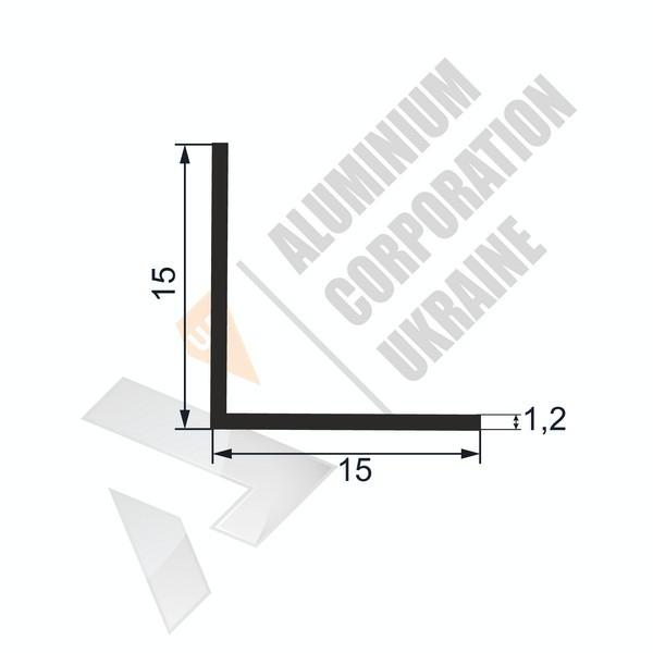 Кутник алюмінієвий | 15х15х1,2 - БП 15-0027