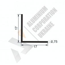Уголок алюминиевый  <br> 17х17х0,75 - АН SX-WM18O3-59 1