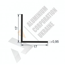 Уголок алюминиевый  <br> 17х17х0,95 - АН SX-WM525-61 1