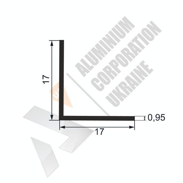 Уголок алюминиевый  | 17х17х0,95 - АН SX-WM525-61