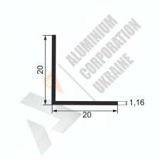 Уголок алюминиевый  <br> 20х20х1,16 - АН SX-WM1082-88 1