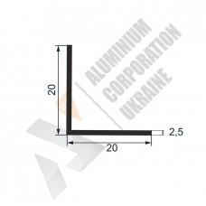 Уголок алюминиевый  <br> 20х20х2,5 - АН МАК-9999-80-108 1