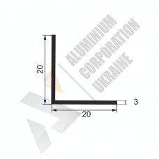 Уголок алюминиевый  <br> 20х20х3 - АН А-0040-110 1