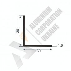 Уголок алюминиевый  <br> 30х30х1,6 - АН SX-WM2454-196 1
