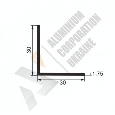 Уголок алюминиевый  <br> 30х30х1,75 - АН МАК-0106-92-198 1