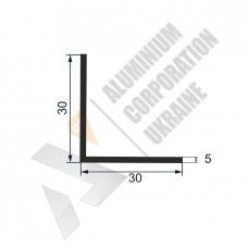 Уголок алюминиевый  <br> 30х30х5 - АН АВА-5241-218 1