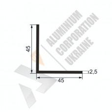 Уголок алюминиевый  <br> 45х45х2,5 - БП 1224-315 1