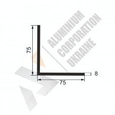 Уголок алюминиевый  <br> 75х75х8 - АН ПАС-1360*-387 1