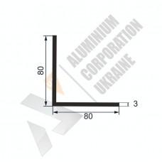 Уголок алюминиевый  <br> 80х80х3 - АН 00536 1