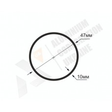 Алюминиевая труба круглая <br> 47х10 - БП БПЗ-1674-508 1