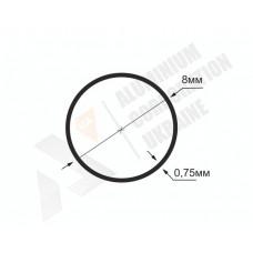 Алюминиевая труба круглая <br> 8х0,75- АН МАК-9998-80-12 1