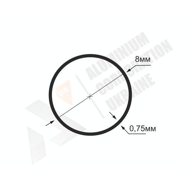 Алюминиевая труба круглая | 8х0,75- БП МАК-9998-80-13