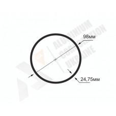 Алюминиевая труба круглая <br> 98х24,75 - БП АК-1355-775 1