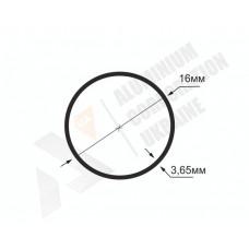 Алюминиевая труба круглая <br> 16х3,65 - БП БПЗ-1687-129 1