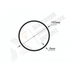 Алюминиевая труба круглая <br> 100х8 - АН  АВА-0954-787 1
